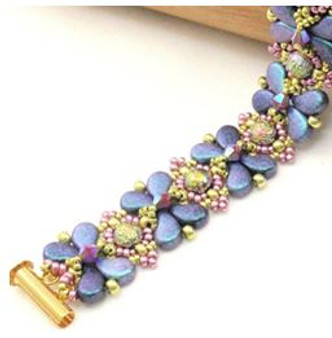 Free Download Pattern - Anthousai Bracelet - designed by Norma Jean Dell
