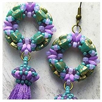 Free Download Pattern - Tomoe Earrings - designed by Michaela Pašková