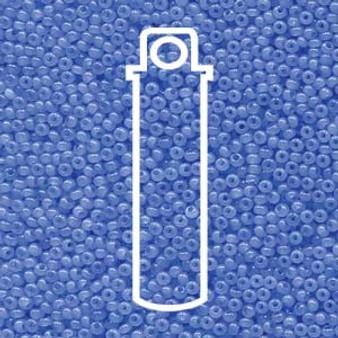 "11-02631 - 11/0 - Czech Beads - Tanzanite Opal - 24gm, 5"" Vial - Glass  Round Seed Bead"