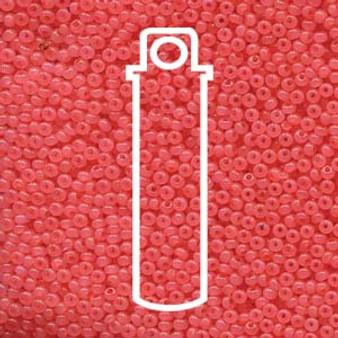 "11-02691 - 11/0 - Czech Beads - Salmon Opal - 24gm, 5"" Vial - Glass  Round Seed Bead"