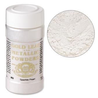Mica powder, Gold Leaf & Metallic Powders, sparkle pearl. Sold per 1-ounce jar.