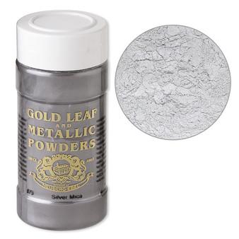 Mica powder, Gold Leaf & Metallic Powders, Silver. Sold per 1-ounce jar.