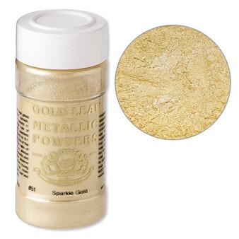 Mica powder, Gold Leaf & Metallic Powders, sparkle gold. Sold per 1-ounce jar.