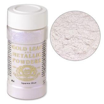 Mica powder, Gold Leaf & Metallic Powders, sparkle blue. Sold per 1-ounce jar.