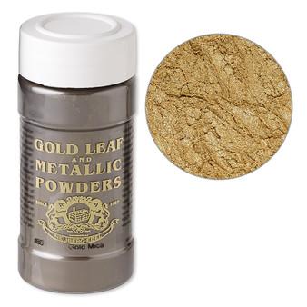 Mica powder, Gold Leaf & Metallic Powders, Gold. Sold per 1-ounce jar.