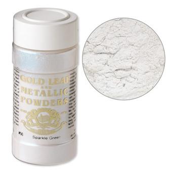 Mica powder, Gold Leaf & Metallic Powders, sparkle green. Sold per 1-ounce jar.