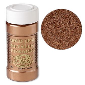 Mica powder, Gold Leaf & Metallic Powders, sparkle copper. Sold per 1-ounce jar.