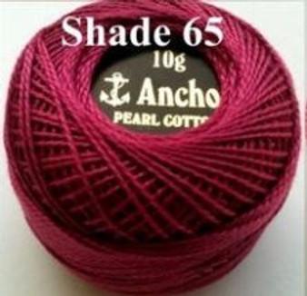 Anchor Pearl Crochet Cotton Size 8 - 10gm Ball - (65)