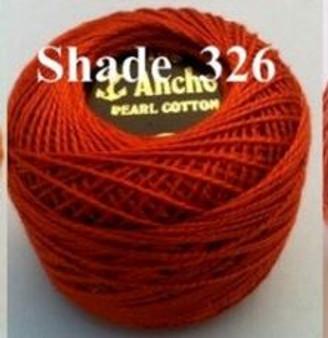 Anchor Pearl Crochet Cotton Size 8 - 10gm Ball - (326)