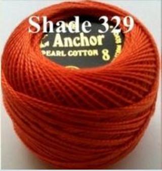 Anchor Pearl Crochet Cotton Size 8 - 10gm Ball - (329)