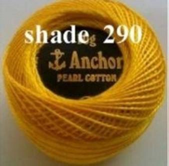 Anchor Pearl Crochet Cotton Size 8 - 10gm Ball - (290)
