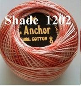 Anchor Pearl Crochet Cotton Size 8 - 10gm Ball - Variegated (1202)
