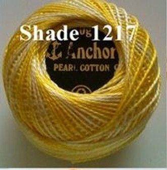 Anchor Pearl Crochet Cotton Size 8 - 10gm Ball - Variegated (1217)