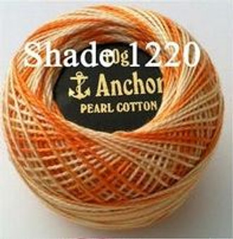 Anchor Pearl Crochet Cotton Size 8 - 10gm Ball - Variegated (1220)