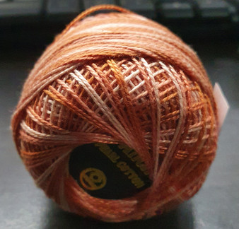 Anchor Pearl Crochet Cotton Size 8 - 10gm Ball - Variegated (1221)