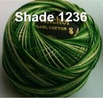 Anchor Pearl Crochet Cotton Size 8 - 10gm Ball - Variegated (1236)