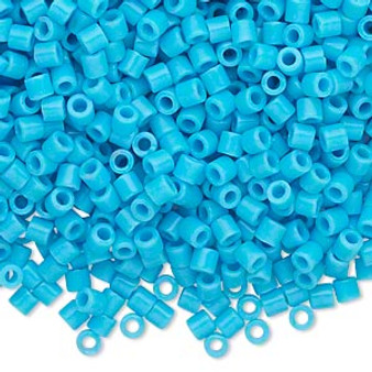 DBL-0725 - 8/0 - Miyuki - Opaque Turquoise Blue - 7.5gms (approx 220 Beads) - Glass Delica Beads - Cylinder