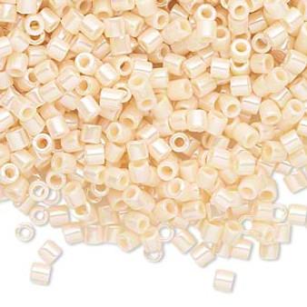 DBL-1560 - 8/0 - Miyuki - Opaque Ceylon Cream - 7.5gms (approx 220 Beads) - Glass Delica Beads - Cylinder