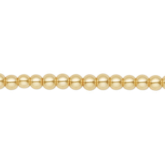 4mm - Celestial Crystal® - Gold - 2 Strands - Round Glass Pearl