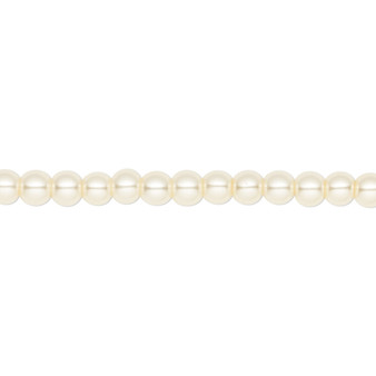 4mm - Celestial Crystal® - Ivory - 2 Strands - Round Glass Pearl