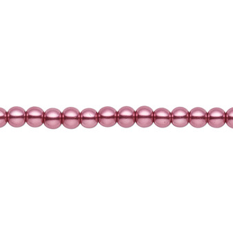 4mm - Celestial Crystal® - Dusty Rose - 2 Strands - Round Glass Pearl
