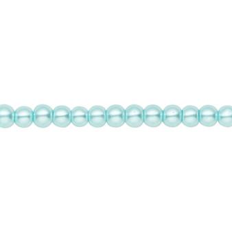 4mm - Celestial Crystal® - Aqua Blue - 2 Strands - Round Glass Pearl