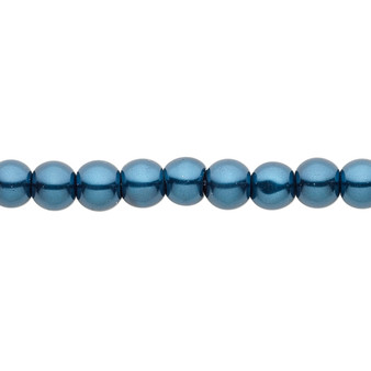 6mm - Celestial Crystal® - Teal - 2 Strands - Round Glass Pearl