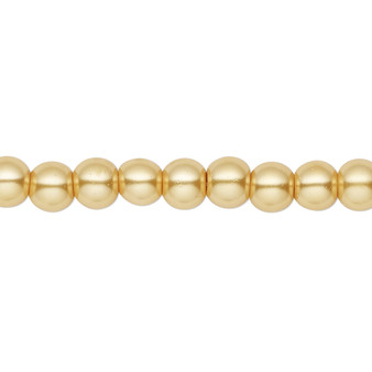 6mm - Celestial Crystal® - Gold - 2 Strands - Round Glass Pearl