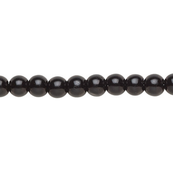 6mm - Celestial Crystal® - Black - 2 Strands - Round Glass Pearl