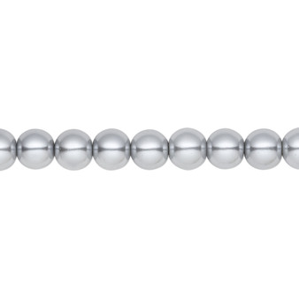 6mm - Celestial Crystal® - Silver - 2 Strands - Round Glass Pearl