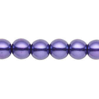 8mm - Celestial Crystal® - Deep Purple - 2 Strands - Round Glass Pearl