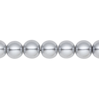 8mm - Celestial Crystal® - Silver - 2 Strands - Round Glass Pearl
