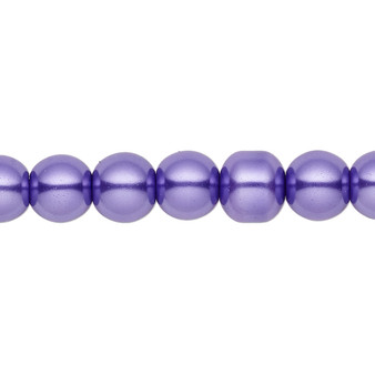 8mm - Celestial Crystal® - Violet - 2 Strands - Round Glass Pearl