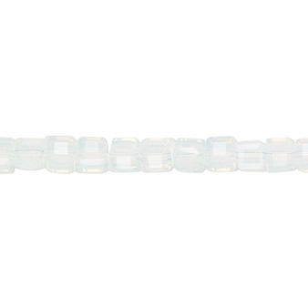 """4mm - Celestial Crystal® - Tr Frosted Clear  - 16"""" Strand  - 18 Facet Cube"""