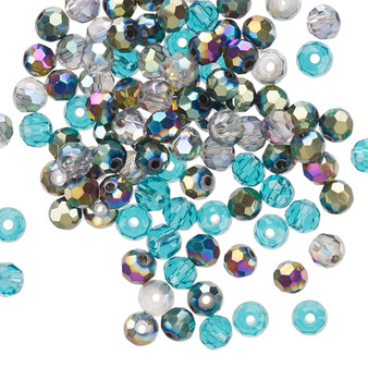 4mm - Celestial Crystal® - Ocean Mix - 100 Pack  - Faceted Round