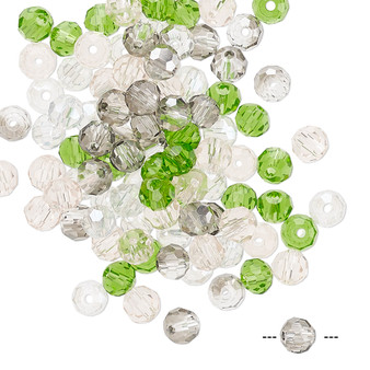 4mm - Celestial Crystal® - Spring Mix - 100 Pack  - Faceted Round