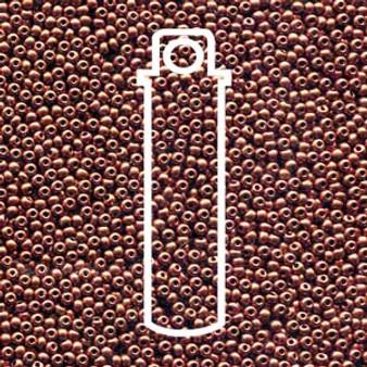 "11-01750 - 11/0 - Czech Beads - Bronze Fire Red - 24gm, 5"" Vial - Glass  Round Seed Bead"
