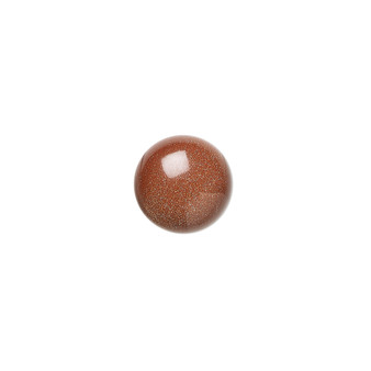 10mm - Brown Goldstone - 6pk - Cabochon (glass) (man-made) - Calibrated Round