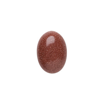 18x13mm - Brown Goldstone - 2pk - Cabochon (glass) (man-made) - Calibrated Oval