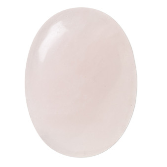 40x30mm - Rose Quartz - 1pk - Cabochon (B-Grade) (Natural) - Calibrated Oval (Mohs Hardness 7)