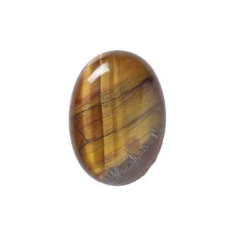 25x18mm - Tigereye - 1pk - Cabochon (B-Grade) (Natural) - Calibrated Oval (Mohs Hardness 7)