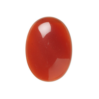 25x18mm - Red Agate - 1pk - Cabochon (B-Grade) (Dyed) - Calibrated Oval (Mohs Hardness 7)