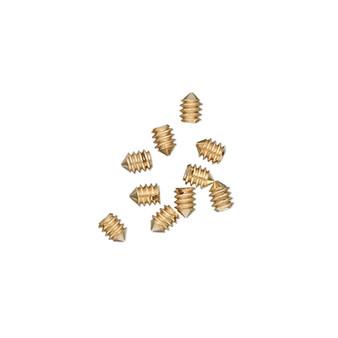 2x1mm - Screw-Tite Crimps™ -  gold-plated copper - 10 Pack - Screws