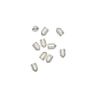2x1mm - Screw-Tite Crimps™ -  silver-plated copper - 10 Pack - Screws