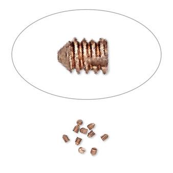 2x1mm - Screw-Tite Crimps™ -  copper-plated copper - 10 Pack - Screws