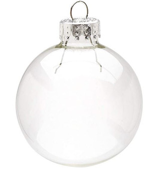 """2.36"""" (60mm) - Clear - Darice, Heavy Duty, Round Glass Balls – Removable Top"""