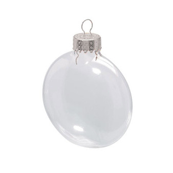 """2.62"""" (66mm) - Clear - Darice, Heavy Duty,  Disk Glass Balls – Removable Top"""