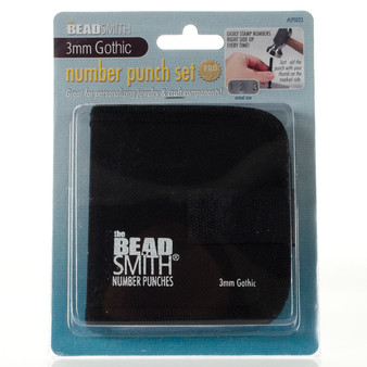 LPS023 - 3mm - theBeadsmith - Number Punch Set - Gothic