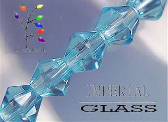 4mm - Imperial Glass - Sky Blue - 2 strands - (approx 180pcs) - Glass Bicone