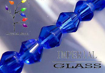 4mm - Imperial Glass - Cadet Blue - 2 strands - (approx 180pcs) - Glass Bicone